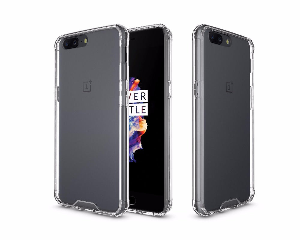 HYBRID SHOCKPROOF CASE  in Transparent  FOR ONEPLUS 5 on phonecase