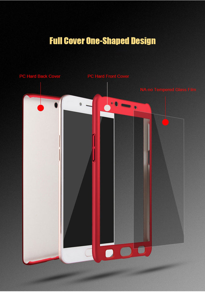 newest collection cedbc a1fa0 OnePlus 5 Full Protective 360 Front+Back+Free Glass