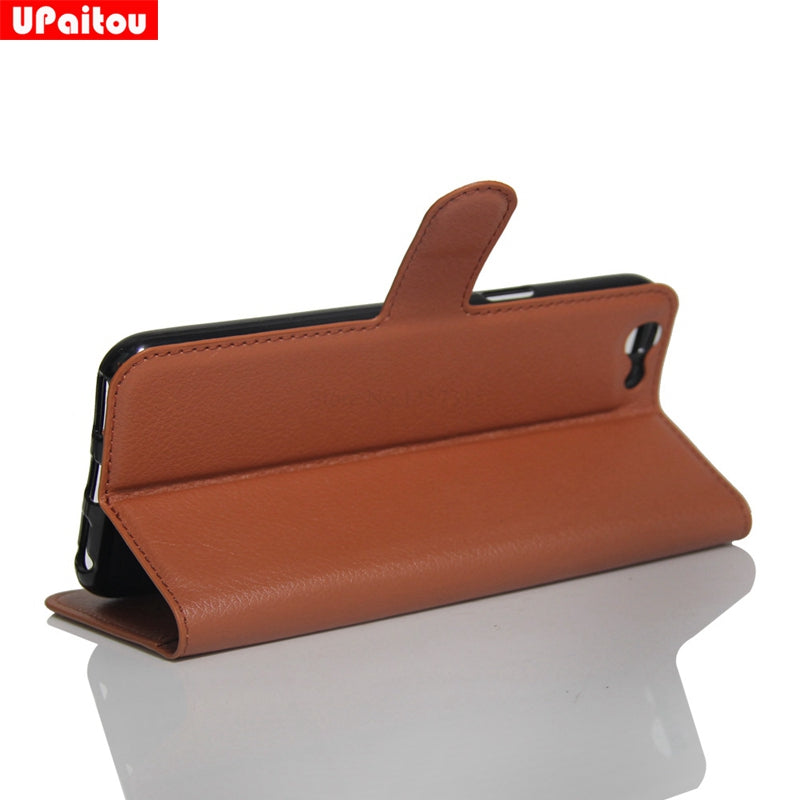 oppo F3 leather wallet cover brown