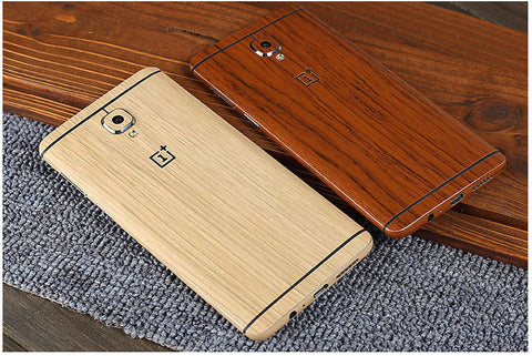 oneplus 3/3T carbon skin wrap wooden in Pakistan buy