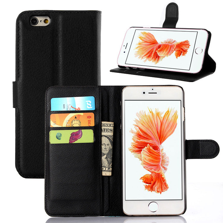 iphone leather flip cover black