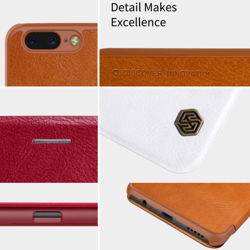 oneplus 5 case Nillkin Leather Flip Case buy online in pakistan
