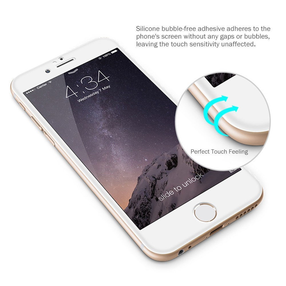 iphone 8/8plus3D tempered glass protector in white color