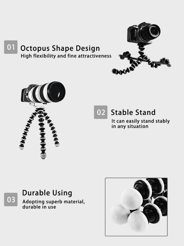 Octopus Flexible Tripod Stand Gorillapod tripod in pakistan