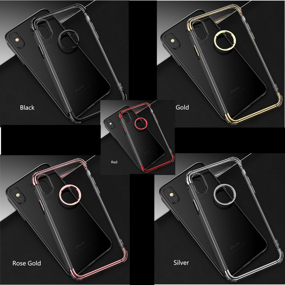 iPhone X Electroplated Transparent TPU Case in All  5 Color in Pakistan Buy Bow