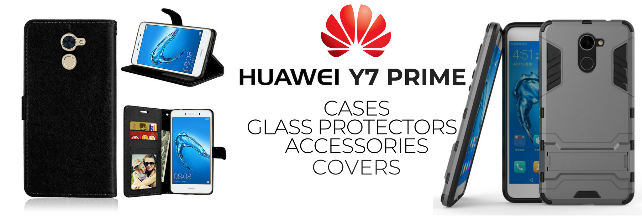 Huawei Y7 Prime Cases, Glass Covers,Accessories Buy in
