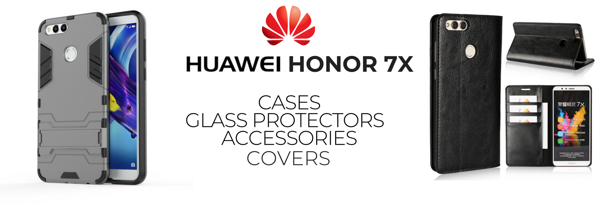 Huawei Honor 7X Case & Cover, Accessories &Glass Protector