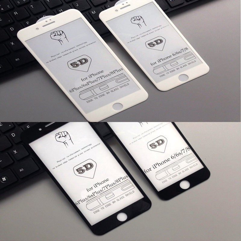 5D tempered glas for all iphone on phonecase.pk