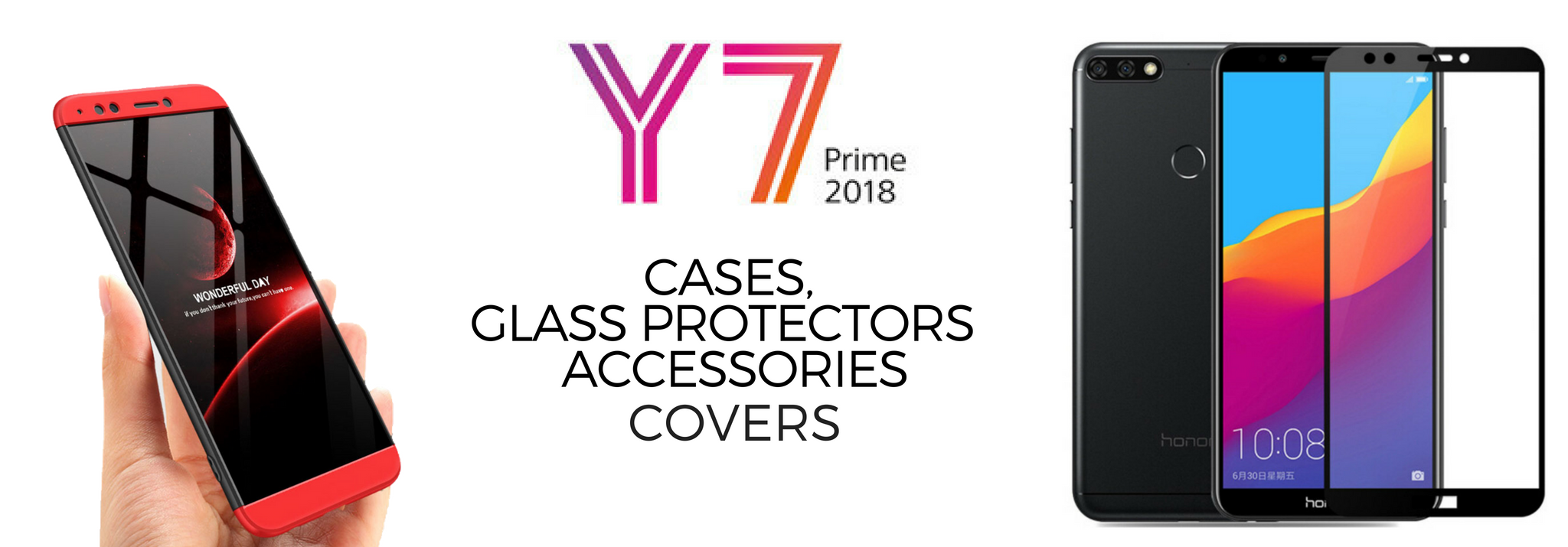Huawei Y7 Prime (2018) cases, glass covers, accessories in Pakistan