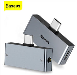 Baseus L57 USB Type C to 3.5mm Headphone Jack AUX Adapter Type-C Fast Charging Splitter