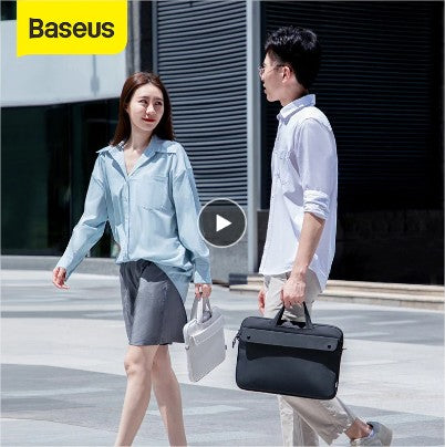 Baseus Laptop Bag 13 16 inch Waterproof Notebook Bag Sleeve For Macbook Air Pro 13 15 Computer Shoulder Handbag Briefcase Bag