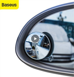 Baseus 2Pcs Car Mirror HD Convex Mirror Blind Spot Auto Rearview Mirror 360 Degree Wide Angle Vehicle Parking Rimless Mirrors