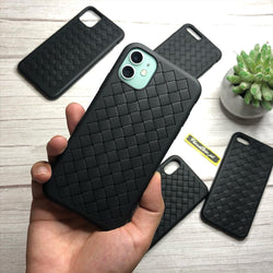 Leather Feel Mesh Shock Proof Case For All iPhone Models