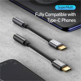 Baseus L54 Type c to 3.5mm AUX earphone headphone adapter usb c to 3.5 jack audio Earphone Cable Adapter