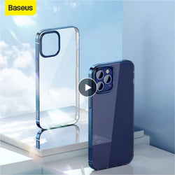 Baseus Transparent Phone Case For iPhone 12 Pro Max Ultra Thin Back Phone Cover Lens Protection