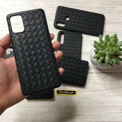 Leather Feel Mesh Shock Proof Case For All Samsung Models