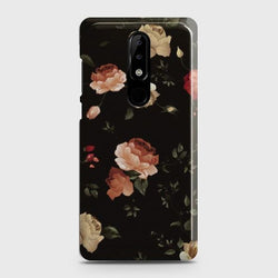 NOKIA 3.1 PLUS Dark Rose Vintage Flowers Case