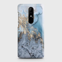 NOKIA 3.1 PLUS Golden Blue Marble Case