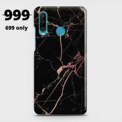 HUAWEI P30 LITE Black Rose Gold Marble Case