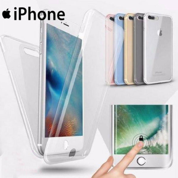360 Degree Front & Back Full Body TPU Case For All iPhone - Phonecase.PK