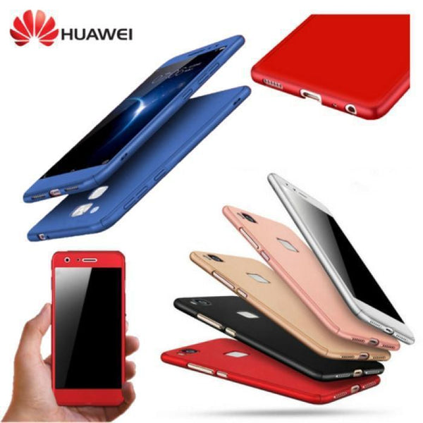 360 Protection Front+Back+Free Glass For All Huawei Models