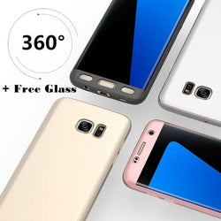 360 Protection Front+Back+Free Glass For All Samsung - Phonecase.PK