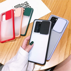 Camera Lens slide Protection Phone Case For All Samsung Models