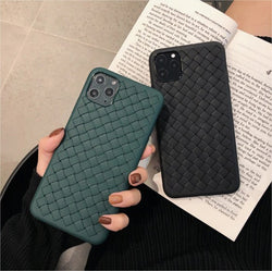 Leather Feel Mesh Shock Proof Case For Oppo Models