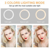 26 CM Professional LED Selfie Ring Light with Tripod