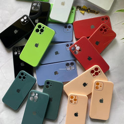 iPhone 12 Series Tempered Glass Phone Case with logo