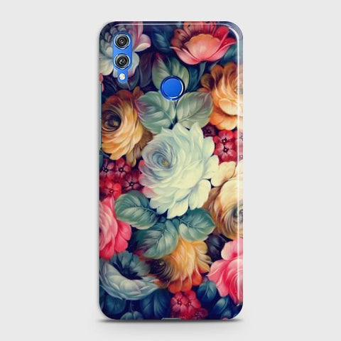 Huawei Honor 8C Vintage colorful Flowers Phone Case - Phonecase.PK