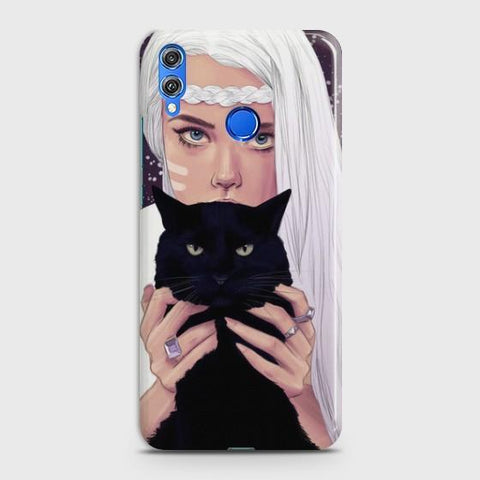 Huawei Honor 8C Wild Black Cat Phone Case