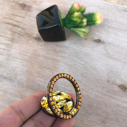 Premium Gold Beads Ring PopSocket PS 308
