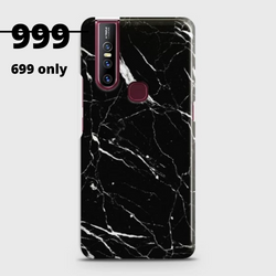 VIVO V15 Trendy Black Marble Case