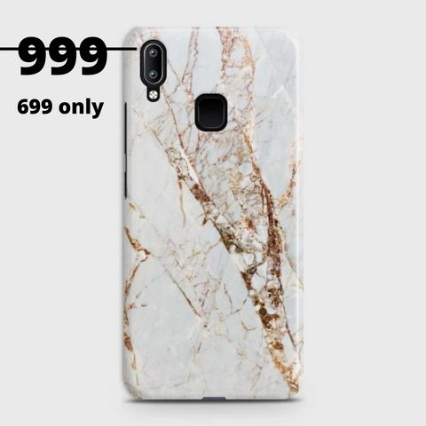 VIVO Y95 White & Gold Marble Case