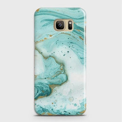 SAMSUNG GALAXY S7 Edge Aqua Blue Marble Case