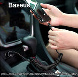 Baseus Retractable Spring 8pin Fast Charging Cable & Data Sync function - Phonecase.PK