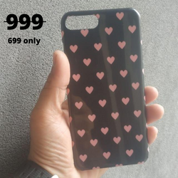 IPHONE 7PLUS Pink Colour Heart Printed Case