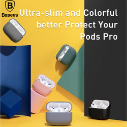 Baseus Soft Silicone Case For Airpods Pro Earphone Case For Air Pods Pro Shockproof Cover