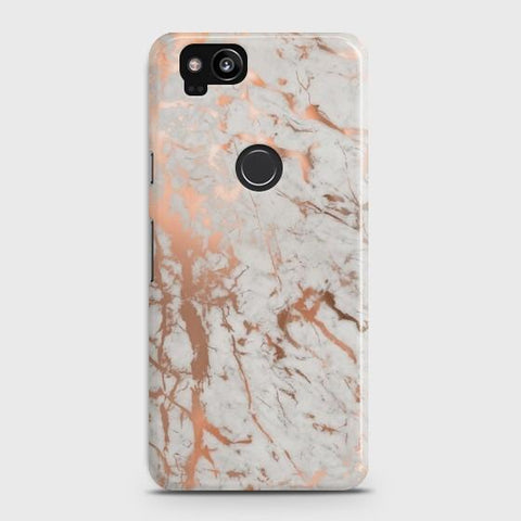 Google Pixel 2 Chic Rose Gold Chrome Style Print  Case - Phonecase.PK