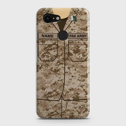 Google Pixel 3  Army Costume  With Custom Name Case - Phonecase.PK