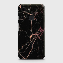 Google Pixel 3 Black Rose Gold Marble Case - Phonecase.PK