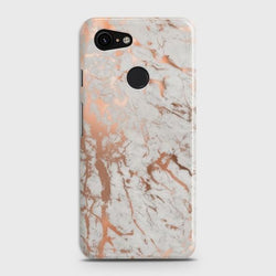 Google Pixel 3 Chic Rose Gold Chrome Style Print  Case - Phonecase.PK