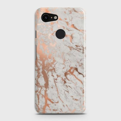 Google Pixel 3 XL Chic Rose Gold Chrome Style Print  Case - Phonecase.PK