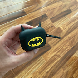 Airpods Pro Batman Shock proof Case with holding clip