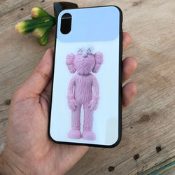iPhone Hybrid Glass Back Cartoon Case