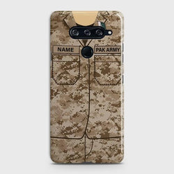 LG V40 Army Costume With Custom Name Case