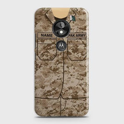 Motorola Moto E5 Army Costume With Custom Name Case