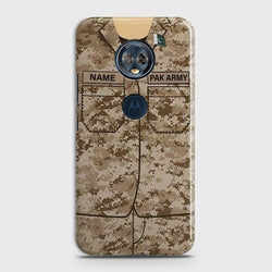 Motorola Moto E5 Plus Army Costume With Custom Name Case
