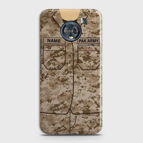 Motorola Moto G6 Army Costume With Custom Name Case